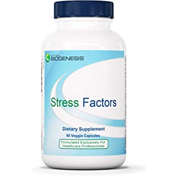 Nutra BioGenesis - Stress Factors - Vitamin B6, Lithium and GABA to Help Support Stress Response and Mental Health - 60 Capsules