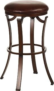 Hillsdale Furniture Kelford Backless Swivel Counter Stool, Antique Bronze