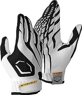 EvoShield Youth Evoflash Football Receiver Gloves - Black/White-YL