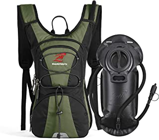 SHARKMOUTH FLYHIKER Hiking Hydration Backpack Pack with 2.5L BPA Free Water Bladder, Lightweight and Comfortable for Short...