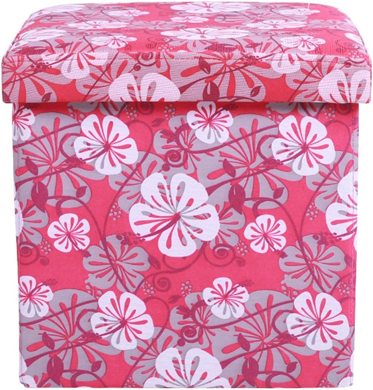 DDSS Oxford Cloth Flower Pattern Storage Stool shoes Bench Foyer Sofa Stool Living Room Bedroom Dressing Table Shopping Mall shoes Store Footstool Multi-Function Storage Stool (color   Style-6)