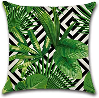 AC/_ Multicolor Tropical Leaves Print Sofa Bed Throw Pillow Case Cushion Cover No