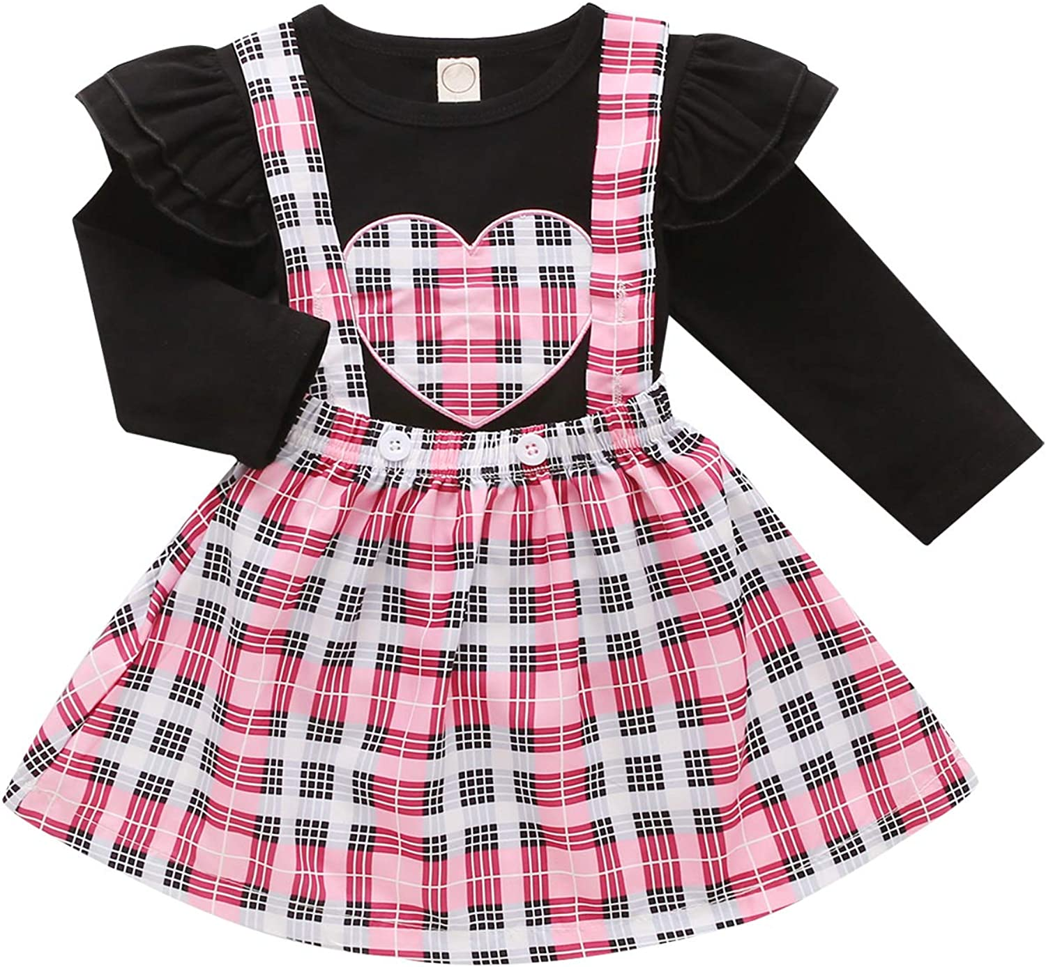 Toddler Baby Girl My First Valentine's Day Dress Long Sleeve Hea