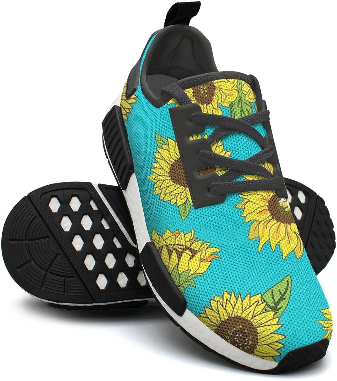 Grunge Sunflower Women's Climbing Lightweight Tennis Sneakers Gym Outdoor Running shoes