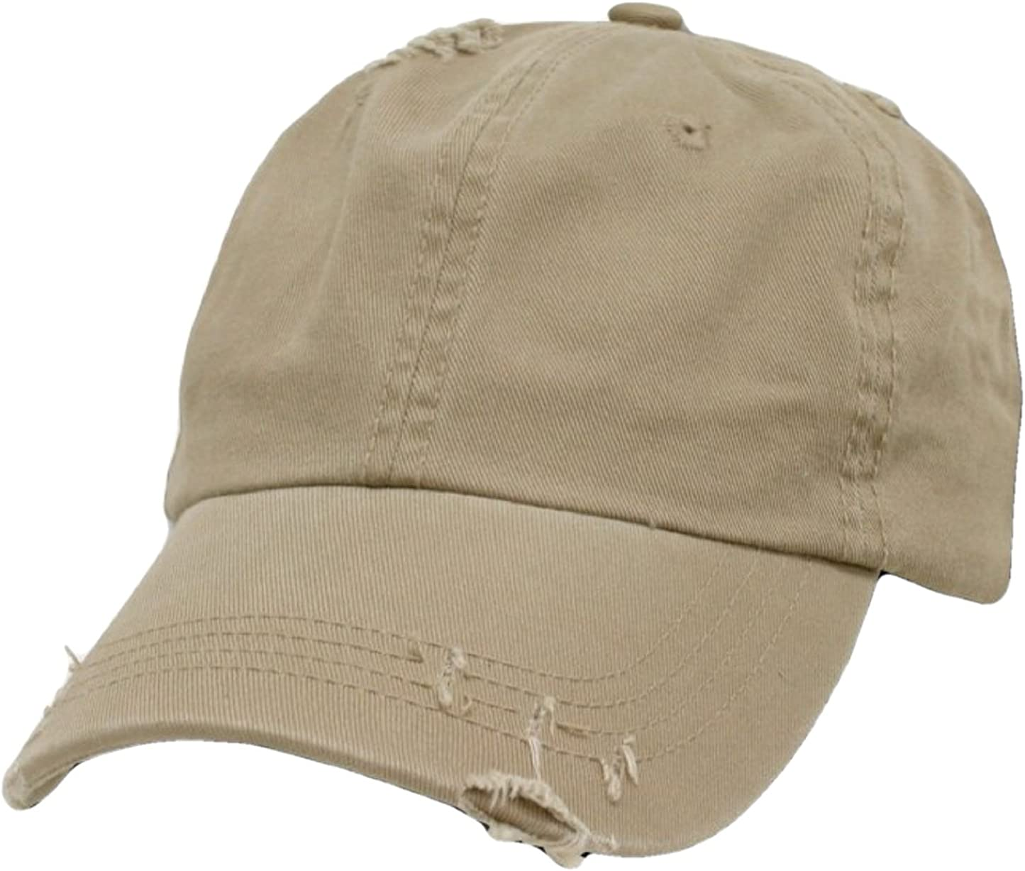 DECKY Distressed Vintage Polo Style Low Profile Baseball Cap