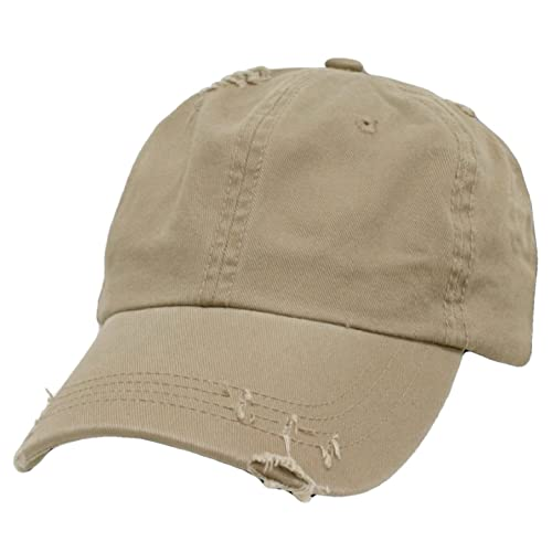 5e95f7023ab0c Decky Distressed Vintage Polo Style Low Profile Baseball Cap (Many Colors  Available)