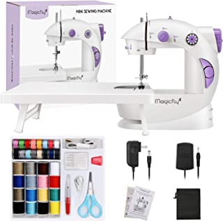 Magicfly Mini Sewing Machine for Beginner, Dual Speed Portable Sewing Machine Machine with Extension Table, Light, Sewing ...