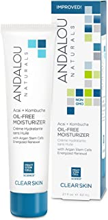 Andalou Naturals Acai + Kombucha Oil-Free Moisturizer, 2.1 oz, For Oily or Overreactive Skin, Helps Cleanse & Purify, Abso...