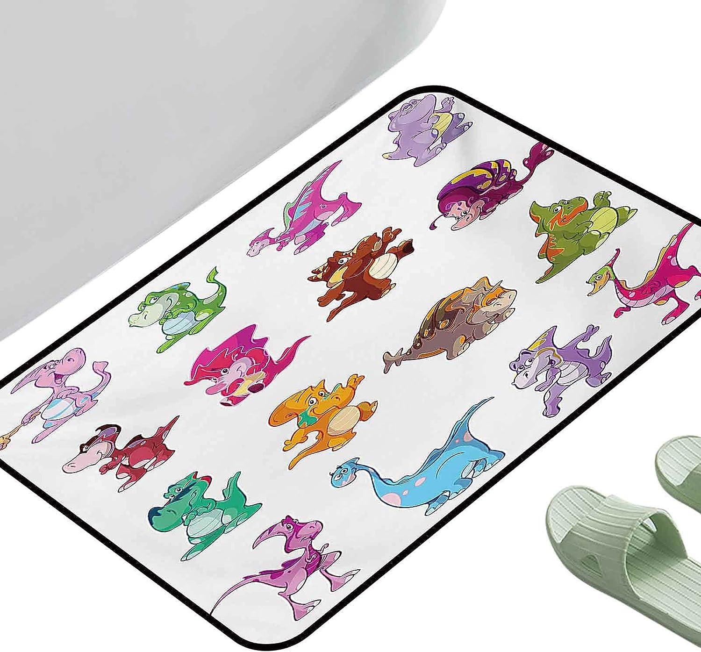 Designed Kitchen Bathroom Floor mart Mat Colorful Jurassic Cheap sale Collection