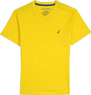 Big Boys' Short Sleeve Solid V-Neck T-Shirt