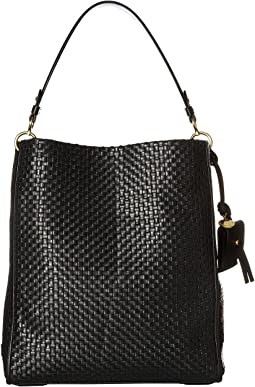 Woven Leather Zoe Bucket