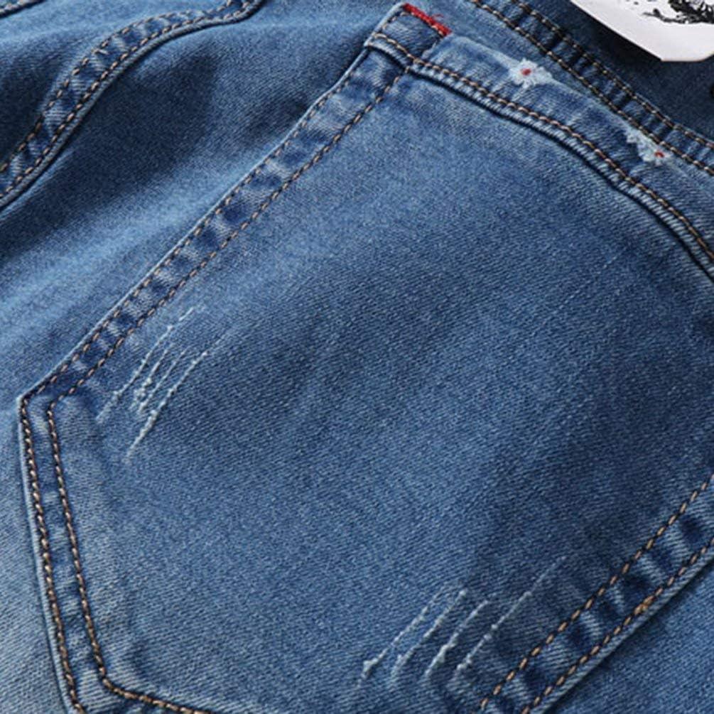 Lanceyy Pantalon Jeans Hommes Basique Poche Denim avec Plaine Style Simple Jeans Pantalon Stretch Skinny Jeans Pantalon Pantalon Black1