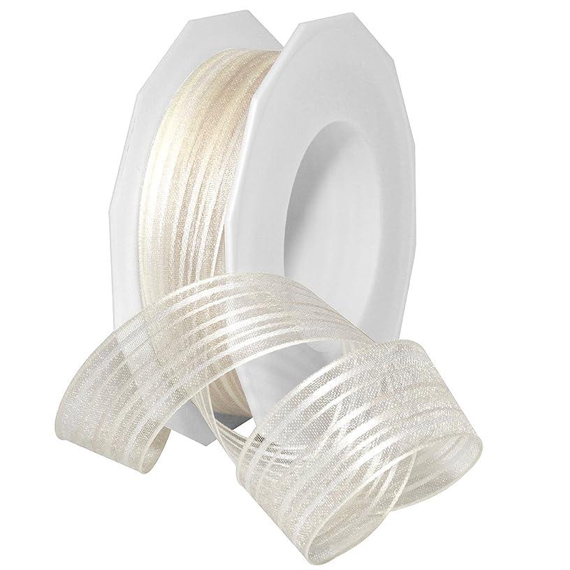 Morex Ribbon Malediven Ribbon, Polyester, 1 inch by 22 Yards, Champagne, Item 80125/20-104, 1