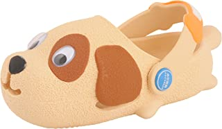 Yellow Bee Puppy Clogs for Boys, Beige