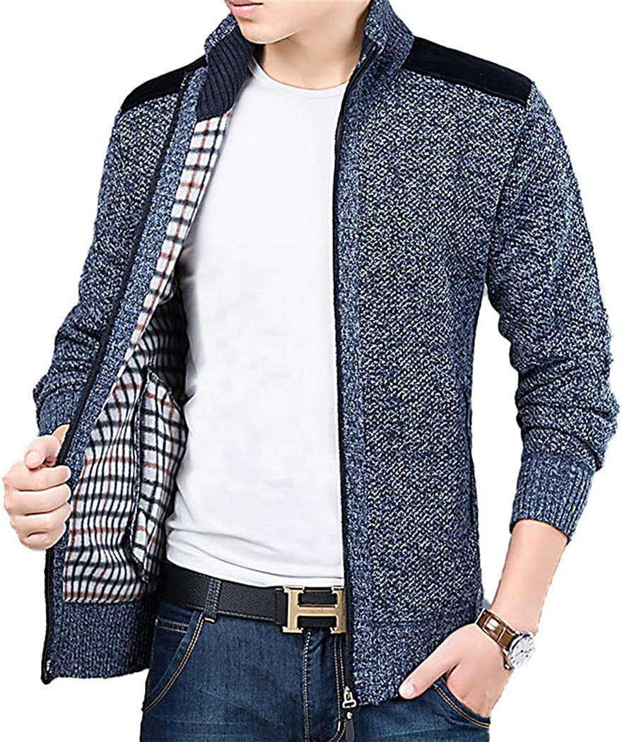 Thick Fashion Sweater for Mens Indefinitely Jumpers Cardigan Knitwea 5% OFF Slim Fit