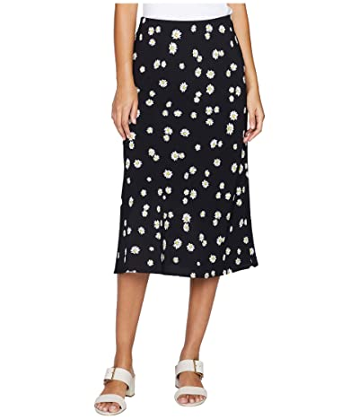 Sanctuary Everyday Midi Skirt (Black Daisy Chain) Women