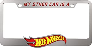 Pilot Automotive WL-HOT1 Hot Wheels Chromed ABS License Plate Frame Universal Fit