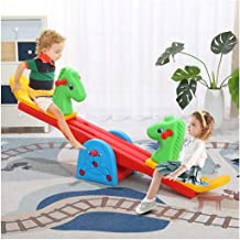Kids Teeter Totter Outdoor Seesaw | Childrens Indoor and Outdoor Heavy-Duty Seesaw,Teeter-Totter Rocker Toy Backyard Playr...