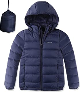 Boys Girls Packable Hooded Lightweight Down Jacket with Detachable Hood Outerwear