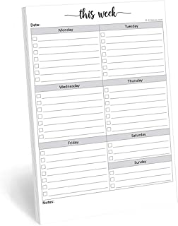 321Done Weekly Checklist Notepad - 50 Sheets (5.5