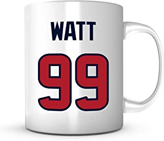 JJ Watt Coffee Mug - Jersey Number Football Cup