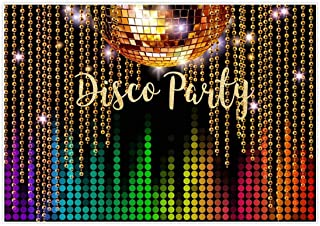 Allenjoy 7x5ft Photography Backdrop Disco Neon Adults Back to 80s 90s Birthday Party Decoration Supplies Let's Crazy in The Dark Dessert Banner Photography Background Photo Studio Booth Props Decor