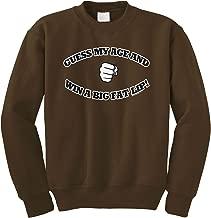 Cybertela Guess My Age and Win A Big Fat Lip, Funny Crewneck Sweatshirt
