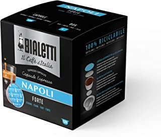 Bialetti Coffee Capsules Napoli - Set 8 packages of 16 capsules - Light Blue
