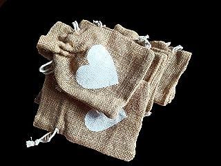 Desi Rang Jute Bags for Return Gifts Potli Pouches Burlap Shagun Occasion Festivals (6 x 4 Inch) - Pack of 10