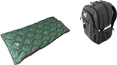 Alpinizmo High Peak USA Vector 38 Backpack Grey + Ranger 20F Sleeping Bag Combo Set, Grey/Green, One Size