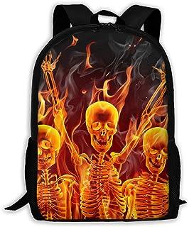 BUGKHD Mochilas de viaje con diseño de calavera de llama, mochilas ligeras para laptop, mochilas de hombro para hombres y ...