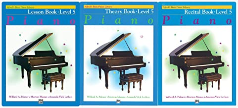 Alfred's Basic Piano Library: Level 5 Books Set (3 Books) - Lesson Book 5, Theory Book 5, Recital Book 5