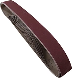 POWERTEC 424208A 2-Inch x 42-Inch 80 Grit Aluminum Oxide Sanding Belt, 10-Pack