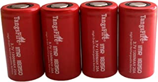 IMR 18350 900mAh 3.7V High Drain LiMn Tangsfire Rechargeable Battery with Flat Top (2 Pieces Real Capacity 900mah)