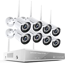 [Full HD] Security Camera System Wireless,Safevant 8CH 1080P Home Security Camera System(NO Hard Drive),8PCS 1080P Inddor/...