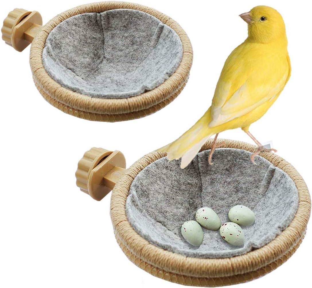 FOIBURELY Seasonal Wrap Introduction 2 Sets Bird Nest Finch with Parrot Canary Max 81% OFF FeltïÂ