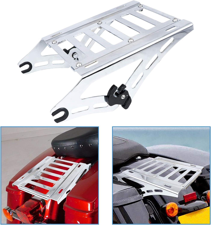 AUFER Chrome Detachable Two Up Rac Luggage Mounting Boston Mall Ranking TOP4 Rack Bracket