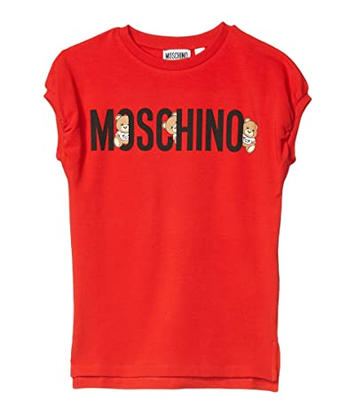 Moschino Kids Hiding Bears Dress (Little Kids/Big Kids) (Red) Girl