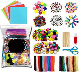COSYOO 1200PCS Arts And Crafts Supplies Educational Creative Craft Art Supply Set Pipe Cleaners Chenille Stems Art Craft S...