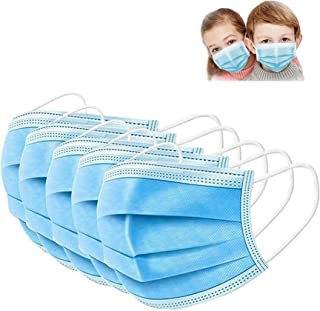 SWIVS LOCKER Kids Face Mask, 50 Pack Disposable Face Masks for Boys and Girls, 3-ply With Elastic ear loops, Highly Breath...