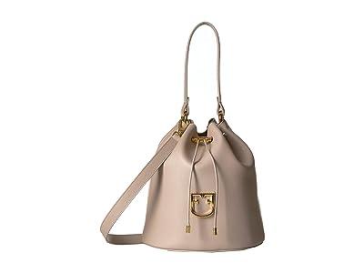 Furla Corona Small Drawstring Bucket Bag (Dalia) Handbags