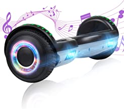 YHR Hoverboard with Wireless Bluetooth Speaker Electric Self Balancing Scooter and LED Light Two-Flashing Wheel with UL227...