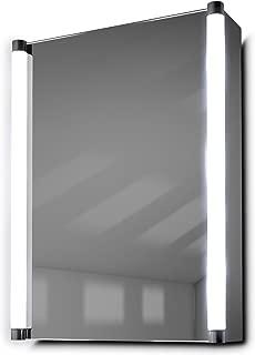 DIAMOND X COLLECTION Bakari LED Demist Bathroom Mirror Cabinet with Demister Pad, Sensor & Shaver k316