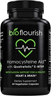 Bioflourish Bioactive Methylfolate (B9). Uniquely Formulated with Methylcobalamin (B12), B2, B6, and Trimethylglycine for Maximum-Strength Support of Normal Homocysteine Levels, Healthy Heart & Brain