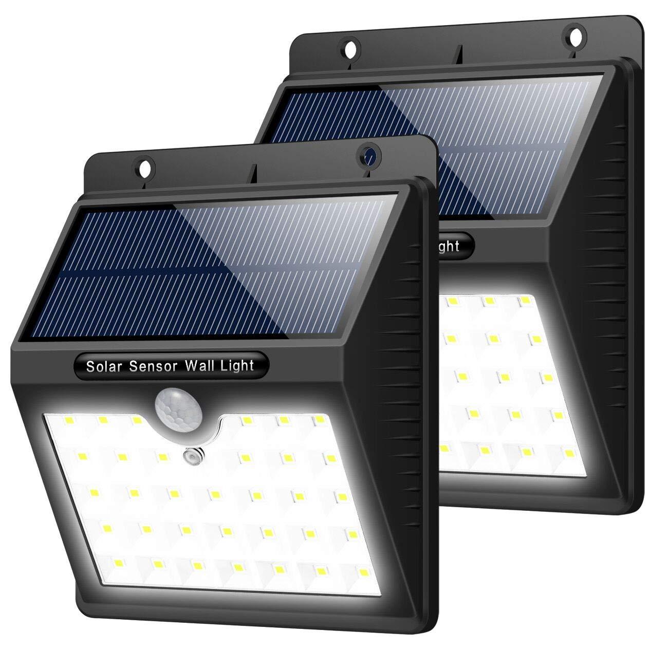 Luz Solar Jardín, 2 Pcs Trswyop 33 LED Luces Solares con Sensor Movimiento Lámpara Solar Exteriors Impermeable Focos Solar con 3 Modos Para Pared, Patio, Garaje, Camino de Entrada, Escaleras: Amazon.es: Iluminación