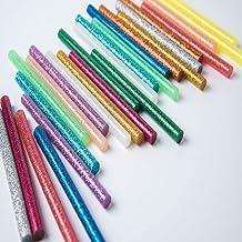 Qiwenr 100 Stks Gekleurde Hot Melt Lijm Sticks,7 * 100 MM Draadloze Hot Lijm Gun Standaard Lijm Sticks, voor DIY Ambachten...