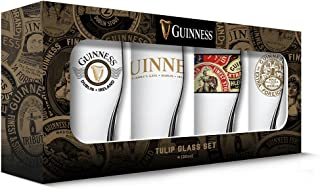 Guinness Boxed Tulip Glasses (Set of 4), Clear
