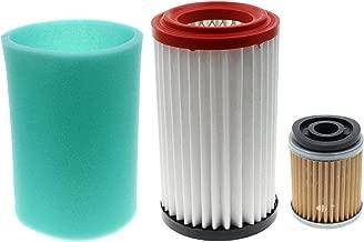 Carbhub Air Filter Pre Cleaner Element + Oil Filter for Yamaha Big Bear 400 YFM400 Bear Tracker 250 YFM250X Bruin 250 ATV