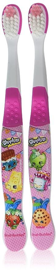 フィルタ免疫活発Brush Buddies Shopkins手動歯ブラシ2をEA(2パック)
