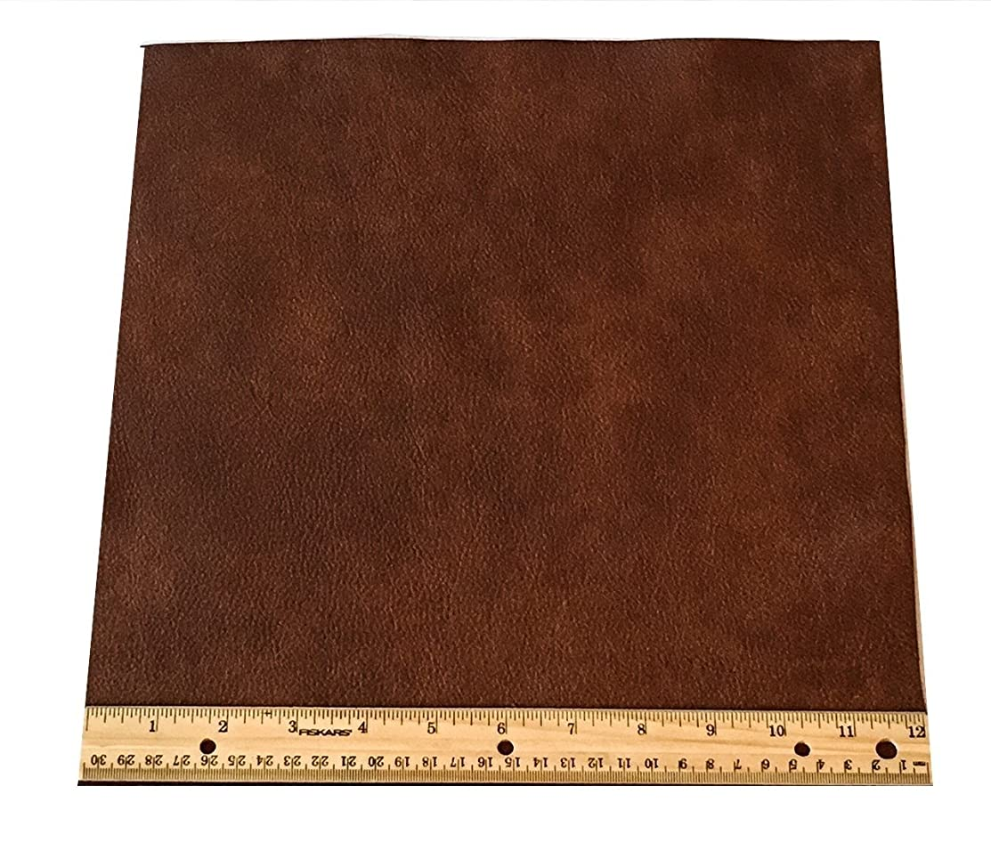 Upholstery Leather Piece Medium Brown Cowhide Light Weight 12